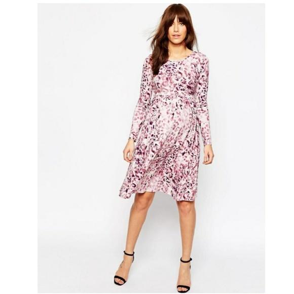 5187ac587b9 ASOS Maternity Dresses   Skirts - ASOS Maternity Leopard Print Skater Dress  8
